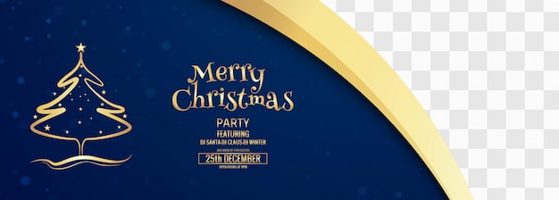 Merry christmas banner template with ornaments Free Vector
