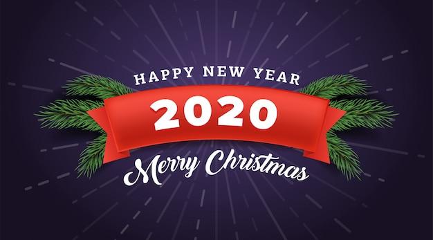 Merry christmas banner  template. Premium Vector