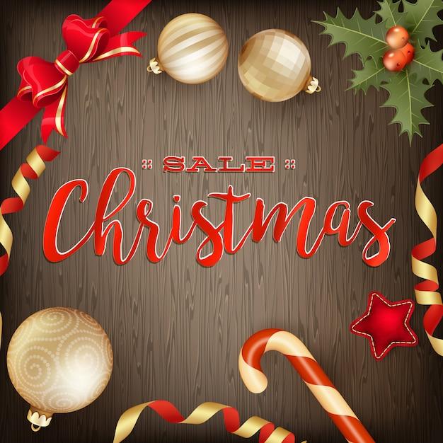 メリークリスマスバナー Premiumベクター