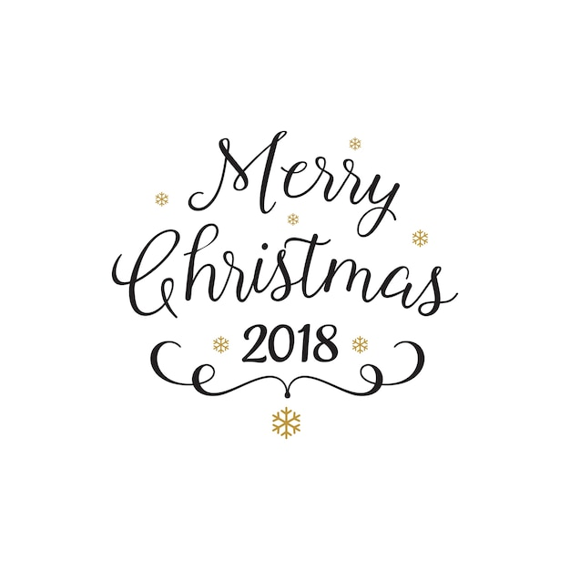 merry christmas beautiful calligraphy free vector