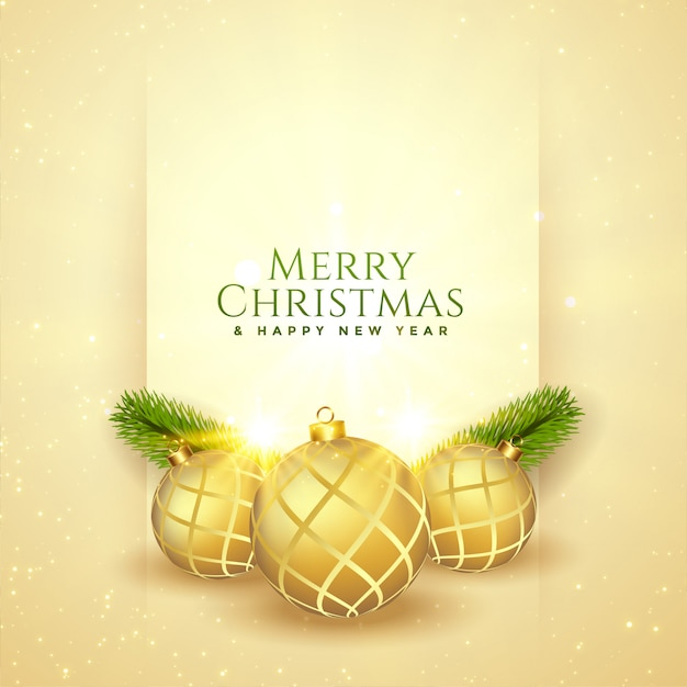 Merry Christmas Beautiful Festival Greeting Design Card