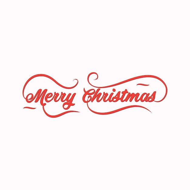 9b66ed439f Merry Christmas calligraphic lettering design Premium Vector