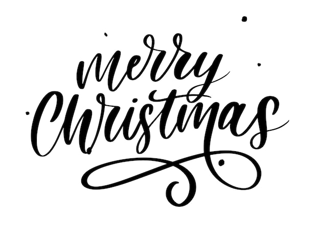 Merry christmas calligraphic Premium Vector