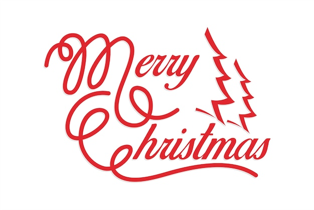 423f63dd12 Merry christmas calligraphy Vector