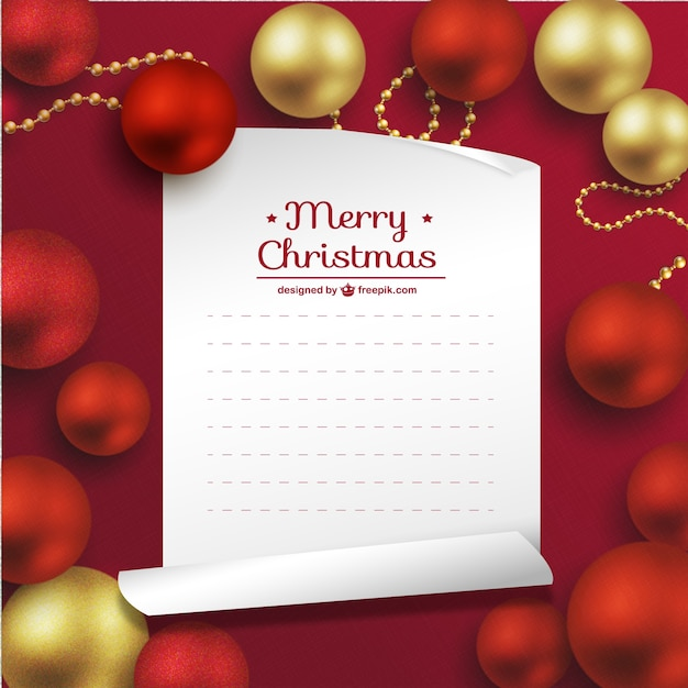 High Quality Merry Christmas Card Template Free Vector