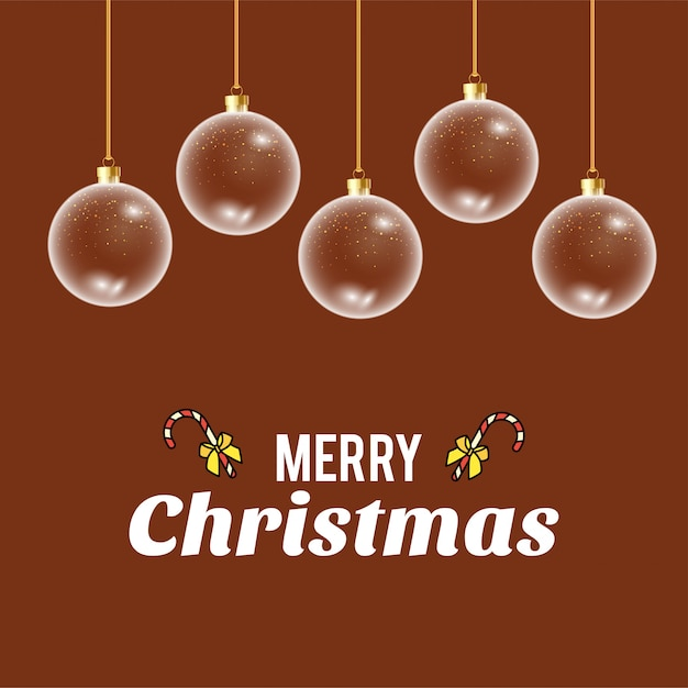 Merry christmas card with creative design vector Free Vector