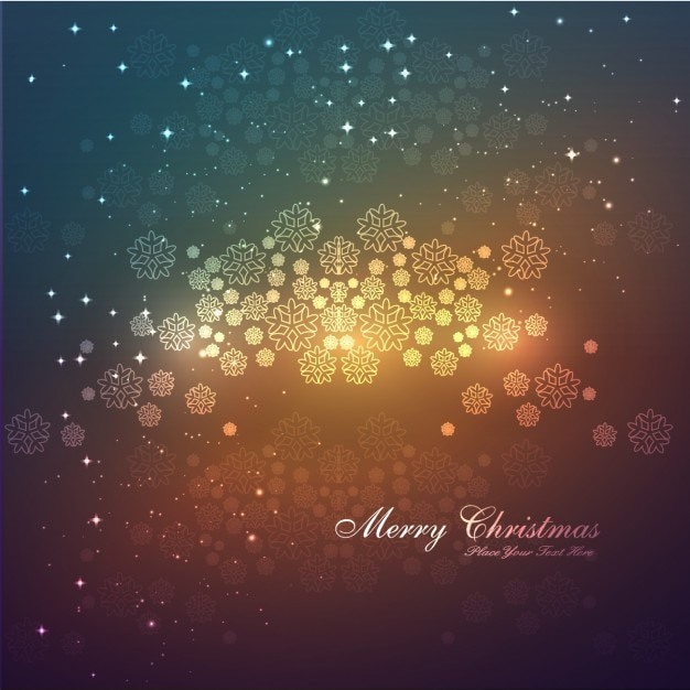merry christmas card with snowflakes background free vector