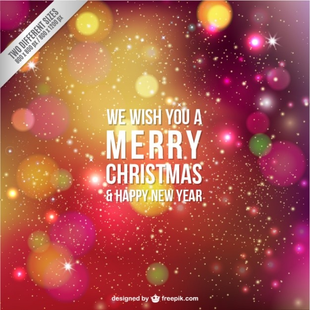 Merry christmas card with stars Free Vector