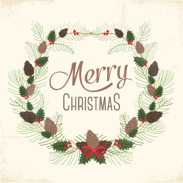 Incroyable Merry Christmas Card Free Vector