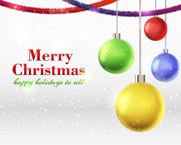 Merry christmas card Vettore gratuito