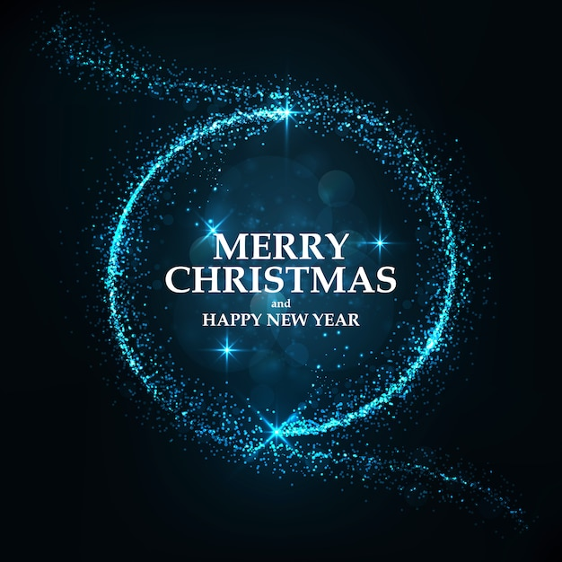 Merry christmas card Premium Vector