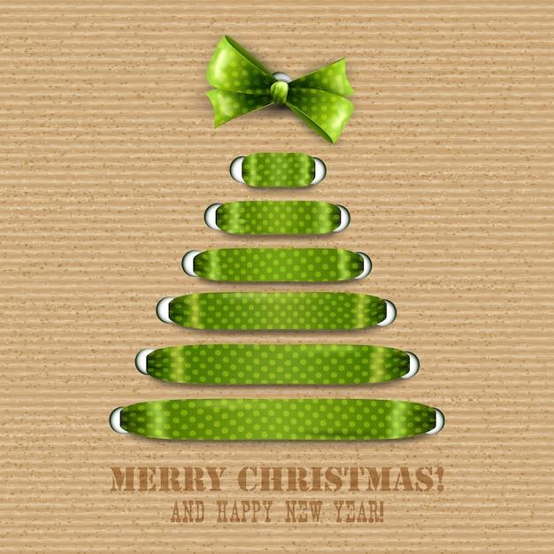 Веселая рождественская открытка Premium векторы
