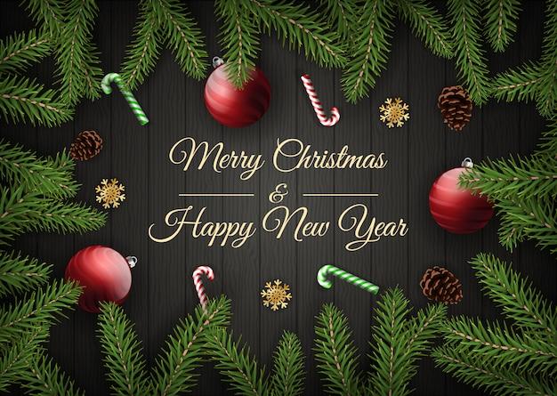 Merry christmas card Premium Vector