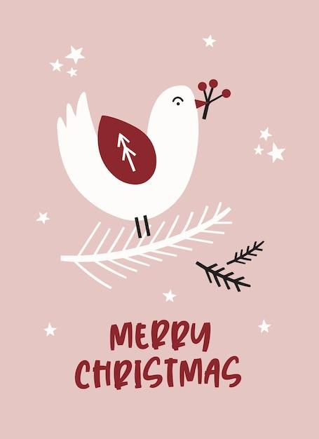 С рождеством христовым открытка. Premium векторы