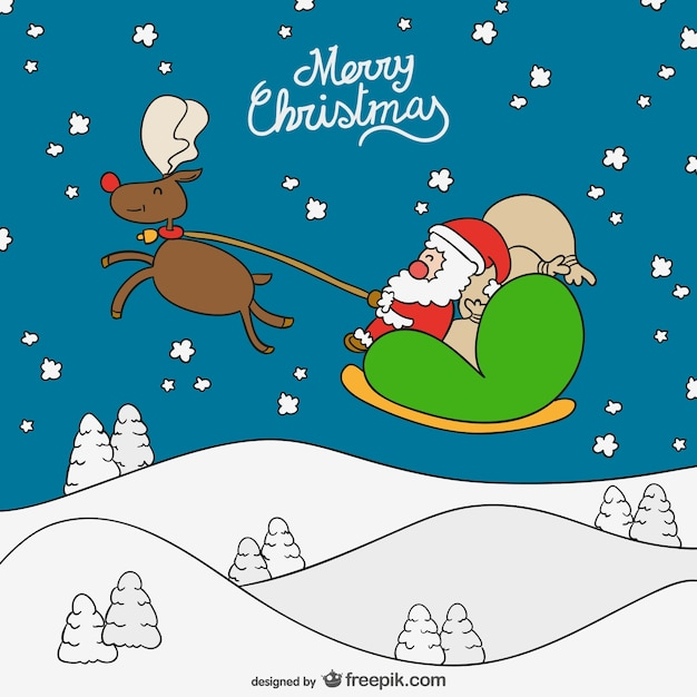 merry christmas cartoon background stock images page everypixel - Christmas Cartoon Pictures