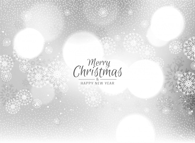 Merry christmas celebration greeting background Free Vector
