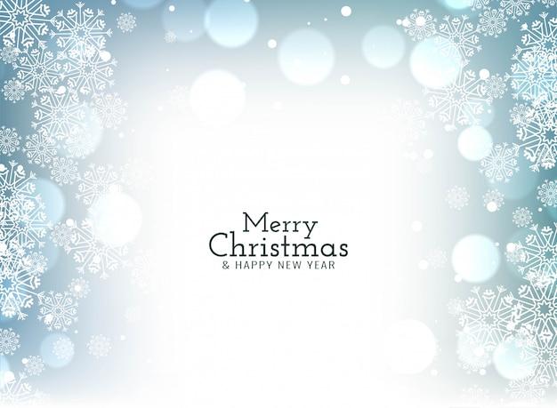 Merry christmas celebration greeting bokeh Free Vector