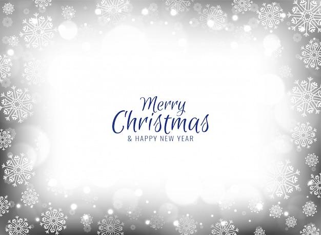 Merry christmas celebration snowflakes background Free Vector