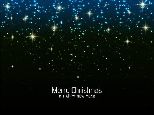 Merry christmas celebration sparkles background Free Vector