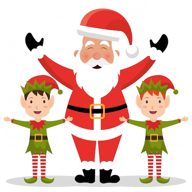 Merry christmas colorful card design Free Vector