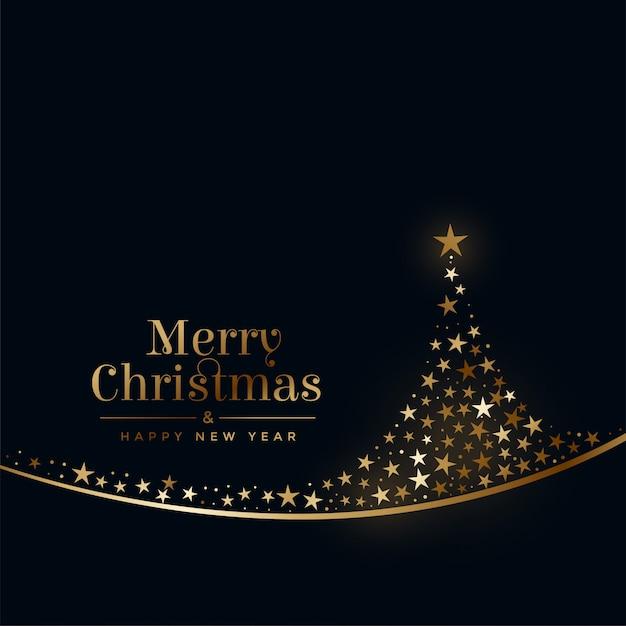 merry christmas creative tree   stars vector