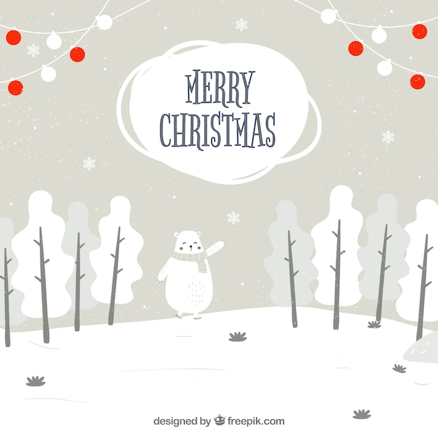 Merry Christmas Cute Background Free Vector