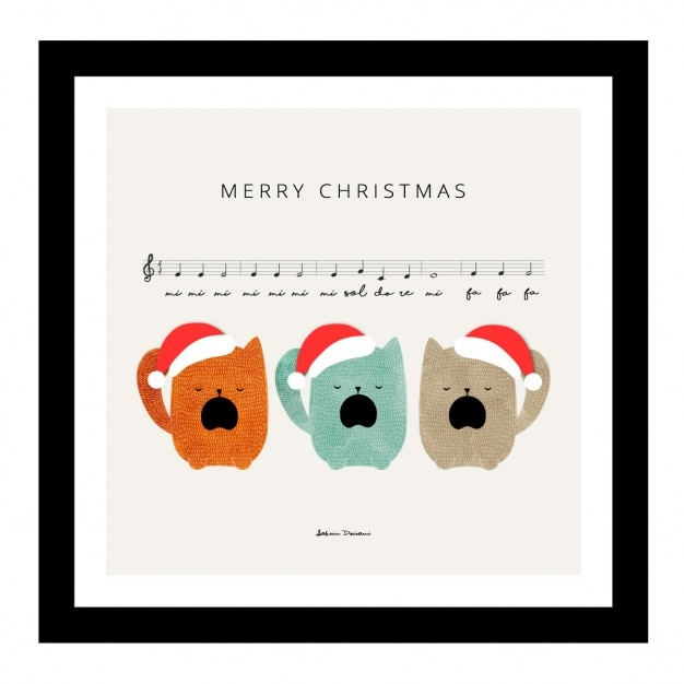 merry christmas cute song free vector - Merry Christmas Song