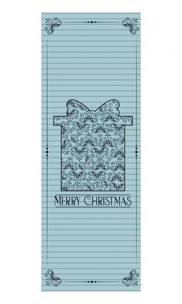 Merry christmas decoration Premium Vector