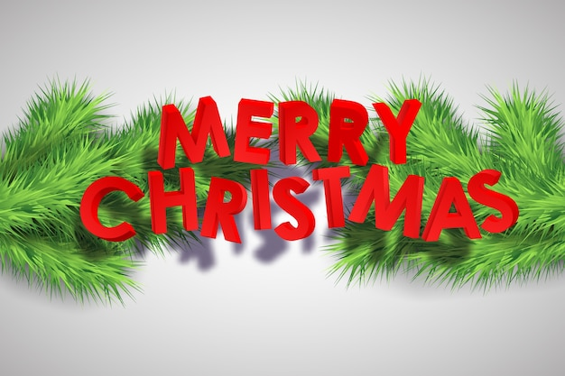 Merry christmas decorative background Free Vector
