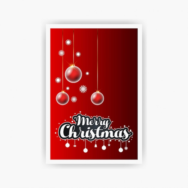 Merry christmas decorative vintage background Free Vector