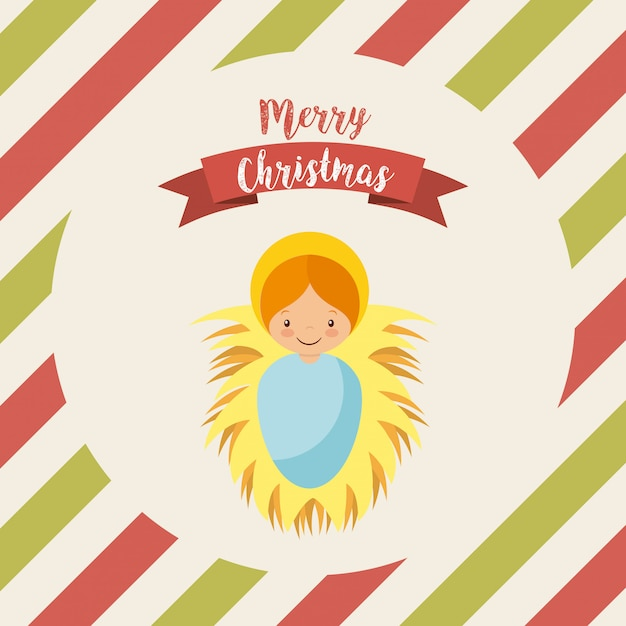 Merry christmas design Premium Vector
