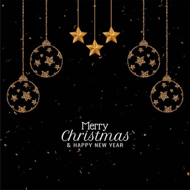 Merry christmas elegant beautiful celebration Free Vector