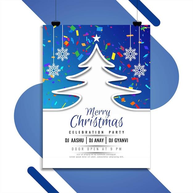 Счастливого рождества элегантный дизайн брошюры Бесплатные векторы