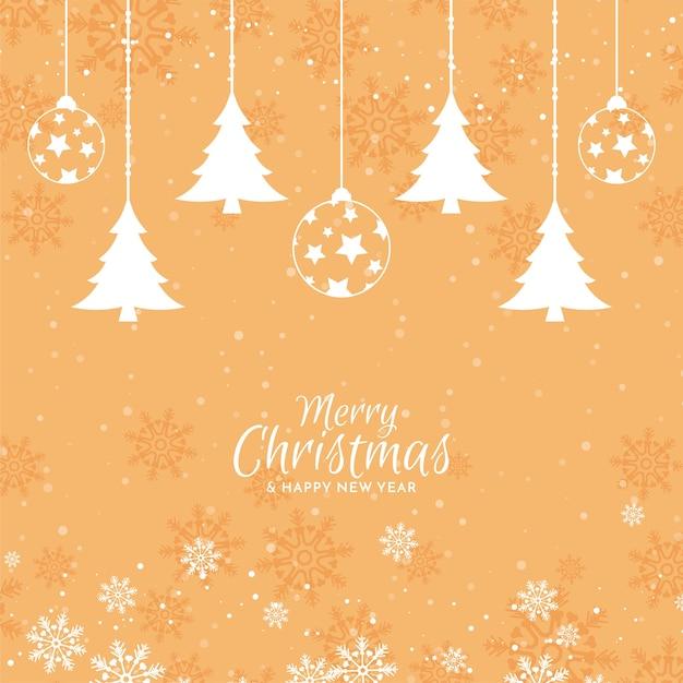 Merry christmas elegant festive background design Free Vector