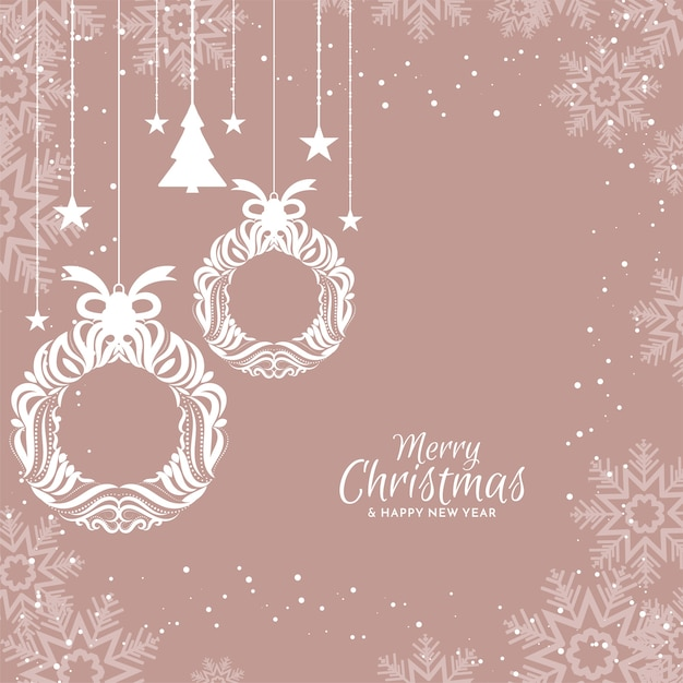 Merry christmas elegant flat design background Free Vector