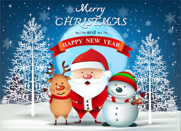 Merry Christmas Everyone >> Merry Christmas Everyone Greeting Card Vector Premium Download