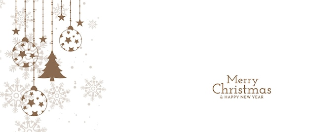 メリークリスマスフェスティバルのお祝いのデザイン 無料ベクター