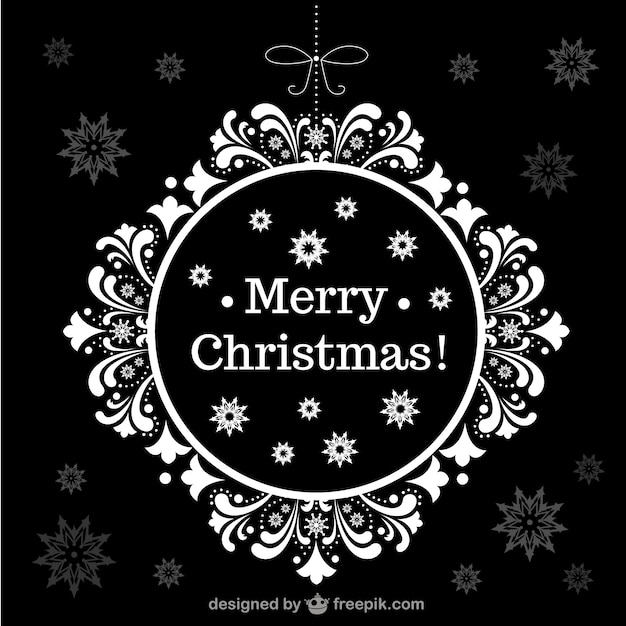 Merry Christmas floral background