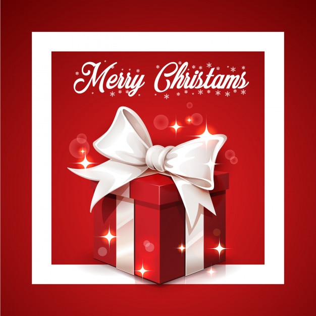 Merry Christmas Gift.Merry Christmas Gift Vector Premium Download