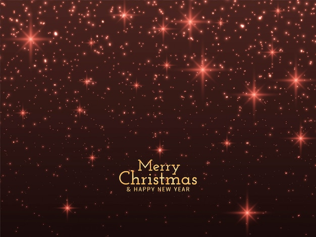 Merry christmas glitters background Free Vector