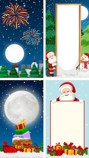 メリークリスマスグリーティングカード背景垂直 無料ベクター