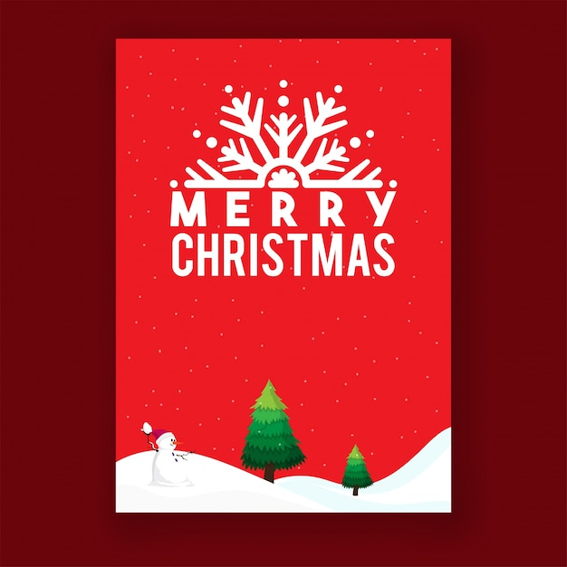 merry christmas greeting card layout premium vector - Christmas Card Layout