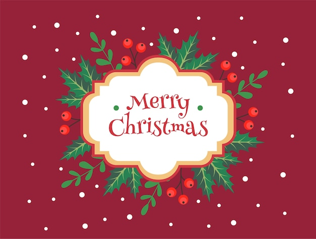 Merry christmas greeting card template vector premium download merry christmas greeting card template premium vector m4hsunfo