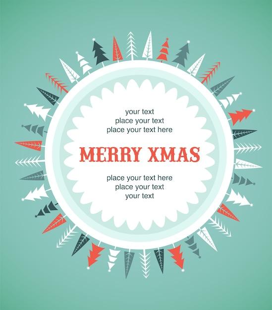 С рождеством христовым шаблон поздравительной открытки. Premium векторы