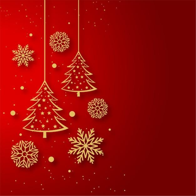 装飾品が入ったメリークリスマスグリーティングカード 無料ベクター