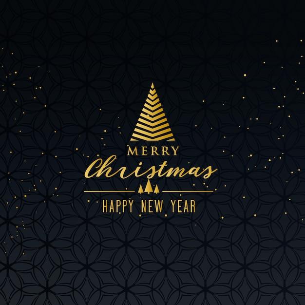 Merry christmas greeting design on dark background