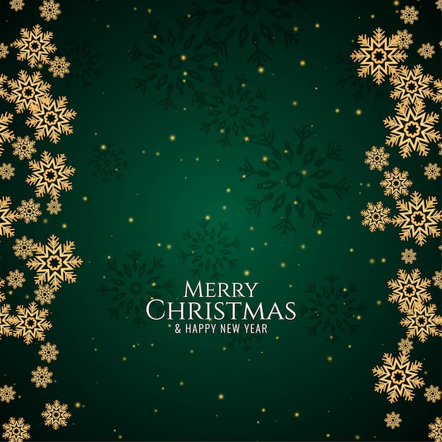 Merry christmas greeting green background Free Vector