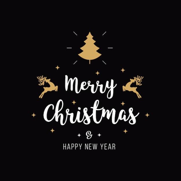 Wonderbaar Merry christmas greeting text   Premium Vector TD-56