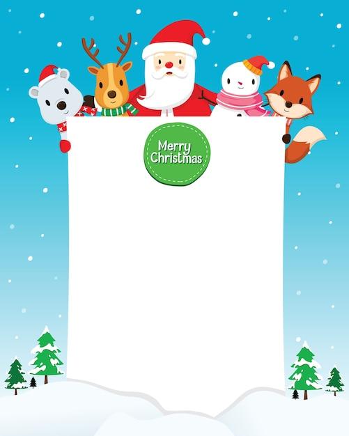 メリークリスマスの挨拶 Premiumベクター