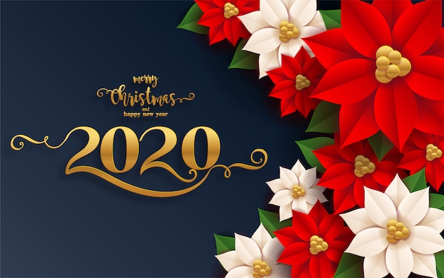 Merry christmas greetings and happy new year 2020 ...